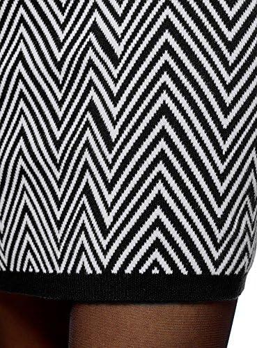 oodji Collection Mujer Falda con Decoración de Jacquard Geométrica ...