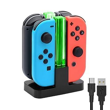 Amazon.com: Base de carga para Nintendo Switch Joy-Con ...