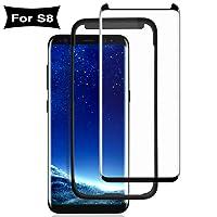 S8 Vetro Temperato, ACETEND S8 Proteggi Schermo Vetro Temperato 3d copertura completa/Durezza 9H/Anti Graffi/impermeabile pellicola in vetro temperato per Samsung Galaxy S8 (con einbaupositionierer)