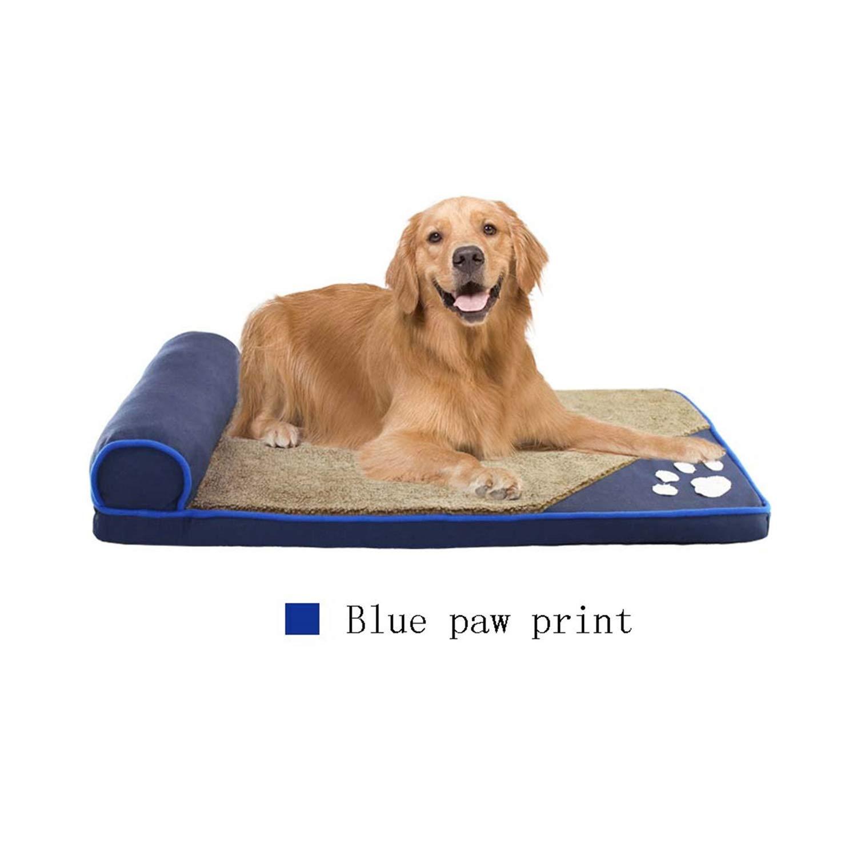 bluee 60X35cm bluee 60X35cm PEHTEN golden Retriever Kennel Detachable Teddy Dog Bed Dog Mat Warm Small Medium Large Dog Pet Products bluee 60X35cm