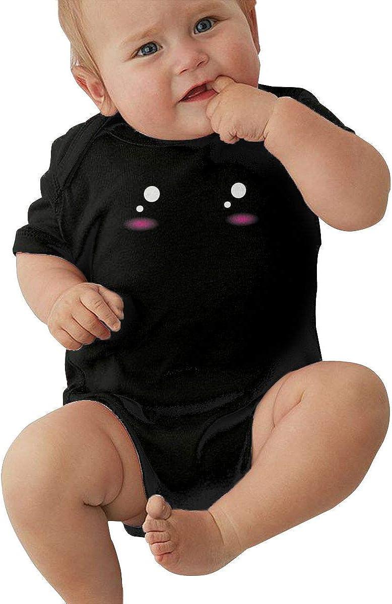 Kawaii Cute Face Baby Girl Boy Jersey Bodysuit Short-Sleeve Jumper