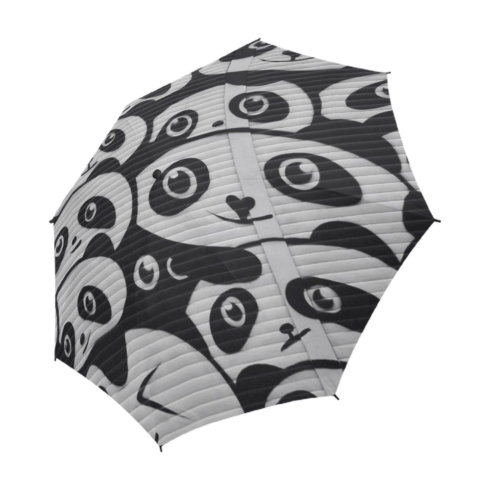 YUMOING Street Art Graffiti Wall Painting Urban Unique Umbrella Semiautomatic Foldable Umbrella Foldable Travel Rainy Sunny Gift