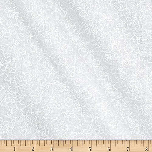 - Santee Print Works Classic Tone Floral White Fabric by The Yard
