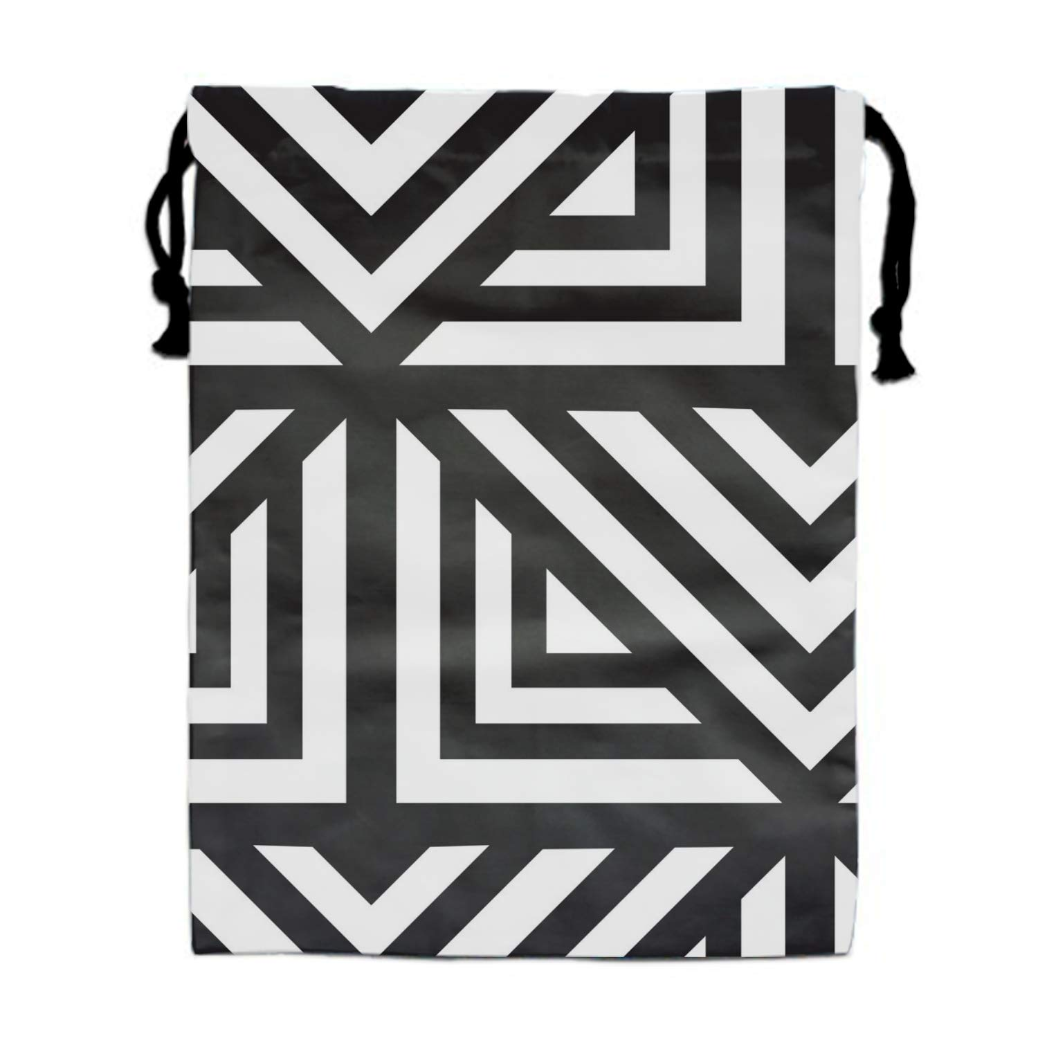 Geometric Repeating Print Drawstring Bag for Kids Party Favors Supplies Backpack Gym