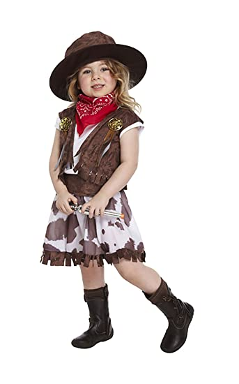 Amazon Com Ma Online Kids Fancy Dress Up Cowgirl Costume Children
