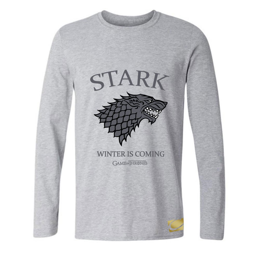 Cornflower Stark Winter Is Coming Game of Thrones Funny Men's Long Sleeve Tee Size L by cornflower (Image #1)