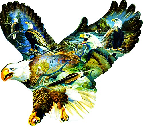 Eagle Majesty 1000 Piece Shaped Jigsaw Puzzle by SunsOut