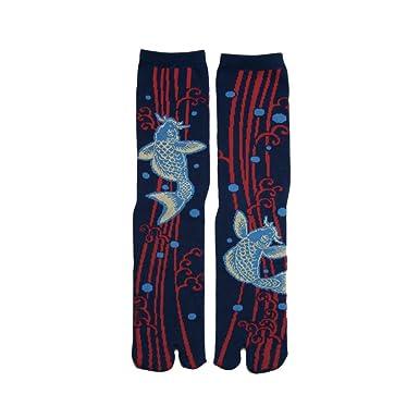 Japanese Samurai Ninja Tabi Socks; Koi Fish