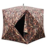 """VINGLI 65""""H Hunting Blind Ground Blinds,Pop Up Portable Hunt Box Blinds,Two-Person Hunt Tent Blind Skylight Camouflage Shooting Waterproof UV Protection Fiberglass Surround View Gauze"""