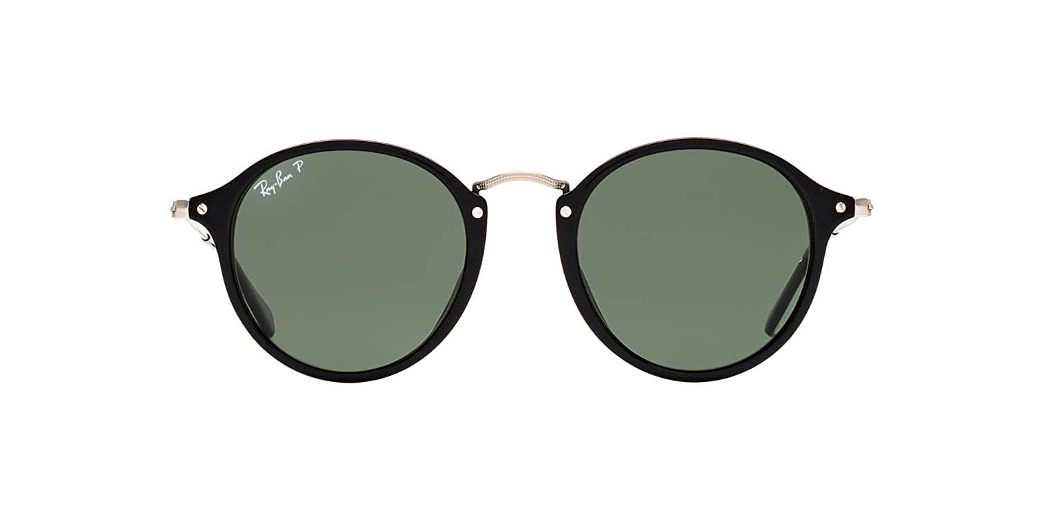 1c647c4f9c ... official amazon ray ban round sunglasses rb2447 black green acetate  polarized 49mm clothing 55c72 886ec