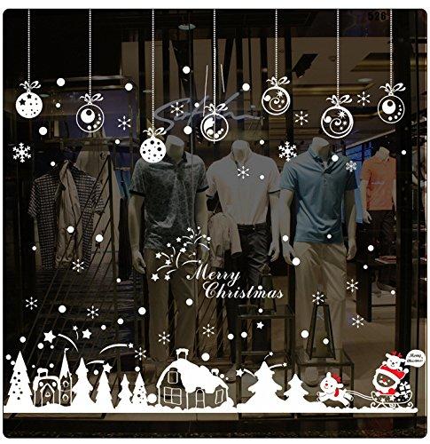 RC-Angel Xmas Wall Sticker Fensterbild Fenstersticker Fensterdeko Wanddeko Weihnachten Advent Sticker (Type 10)