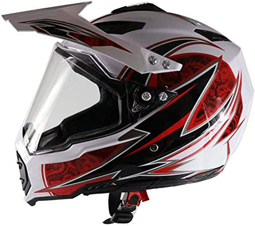 Amazon.es: Casco de Motocross, Moto Casco Integral con Parasol ...
