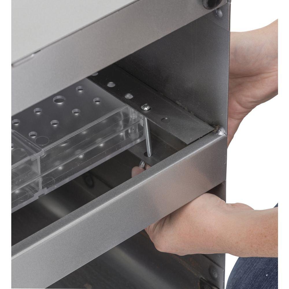 Rotating Acrylic Pegboard Display, Adj Height, Retail Display 16'' x 54''