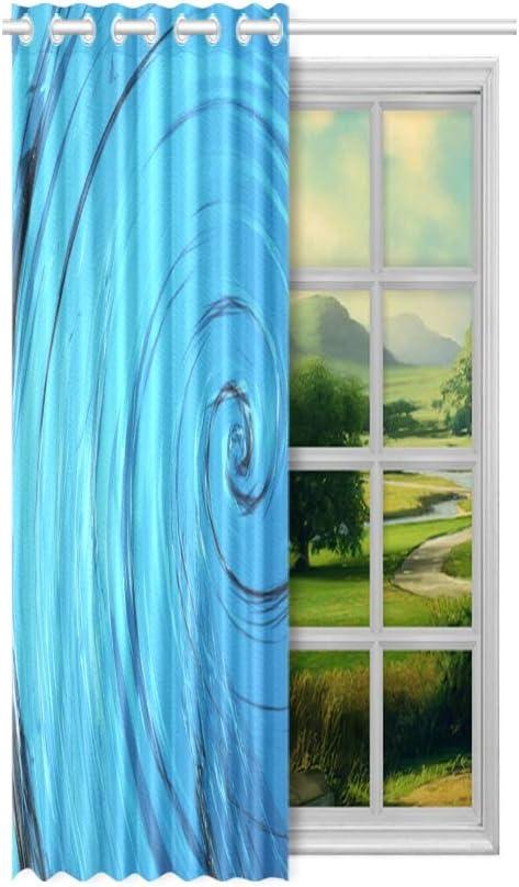 Cortinas con motivos para la sala de estar Mirando las muy cómodas cortinas de la ventana de la bañera de hidromasaje para niños 52x63 pulgadas (132x160 cm) 1 panel Cortina opaca para la sala de esta
