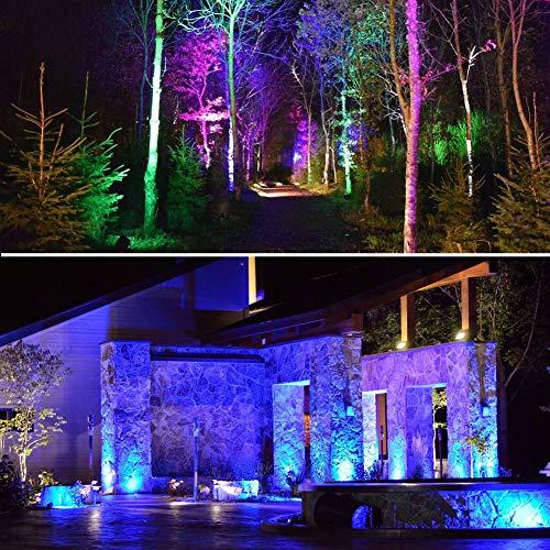 COVOART Color Changing LED Landscape Lights Landscape Lighting Waterproof LED Garden Pathway Lights Walls Trees Outdoor Spotlights with Spike Stand, Outdoor Landscaping Lights, 4 Pack by COVOART (Image #5)