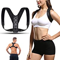YOMYM Shoulder Straightener - Spinal Reserving Orthopedic Spine Antenna - Full Back Support Posture Corrector for Men and Women - Suitable for relieving back, chest, neck and shoulder pain