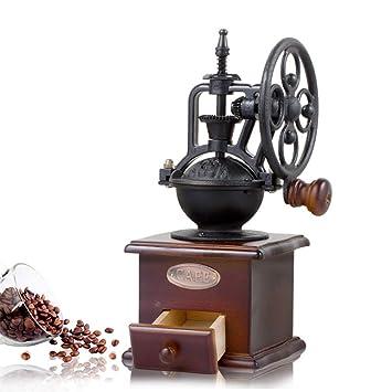 JFJL Molinillo de café Manual con ajustes de molienda y cajón de Captura Máquina de moler ...