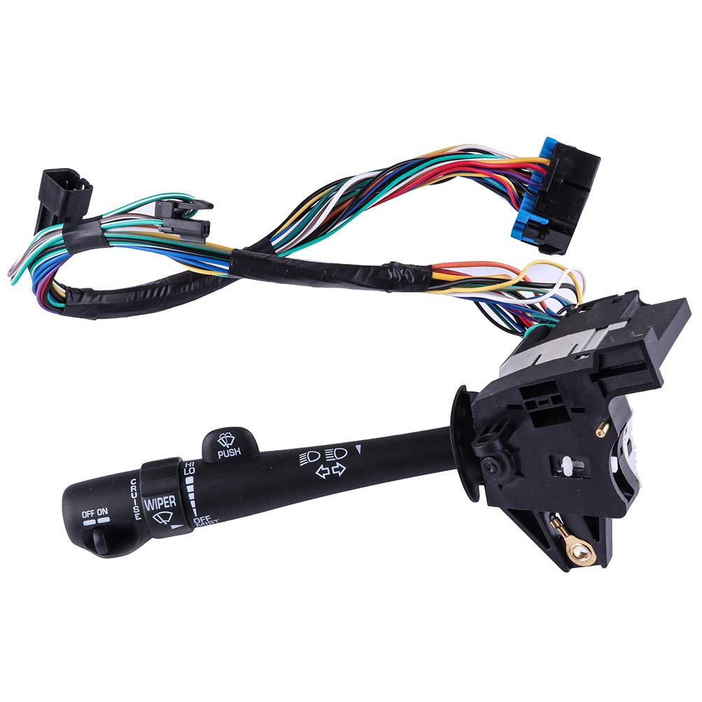 26073612 Turn Signal Switch Multi-Function Combination Switch fit for 2000-05 Chevy Impala with Cruise Control2000-05 Chevy Monte Carlo with Cruise Control