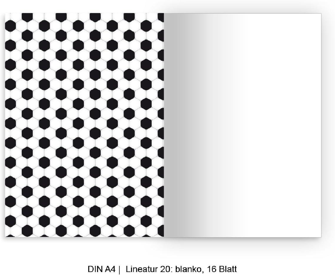 Coole DIN A5 Schulhefte Schreibhefte mit bunten Punkten auf gr/ün Lineatur 6 Kartenkaufrausch 2 personalisierte blanko Heft