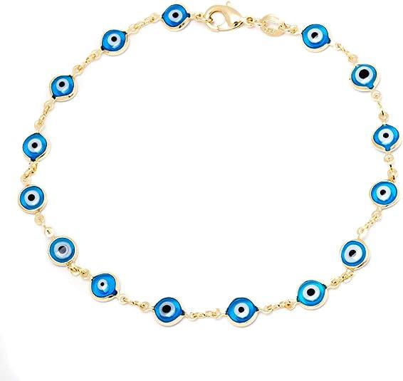 ojo turco dainty anklet mal de ojo foot jewelry evil eye anklet evil eye jewelry azabache gold anklet Anklet jet stone anklet