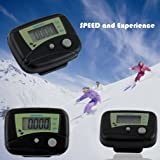 Buyincoins LCD Run Step Pedometer (Two colors black and white) for choice Walking Distance Calorie Counter