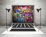 Kate 5x7ft Graffiti Wall Backdrops Teenagers Tip Hop Style Party Decoration Microfiber Customized Photo Booth Backdrops