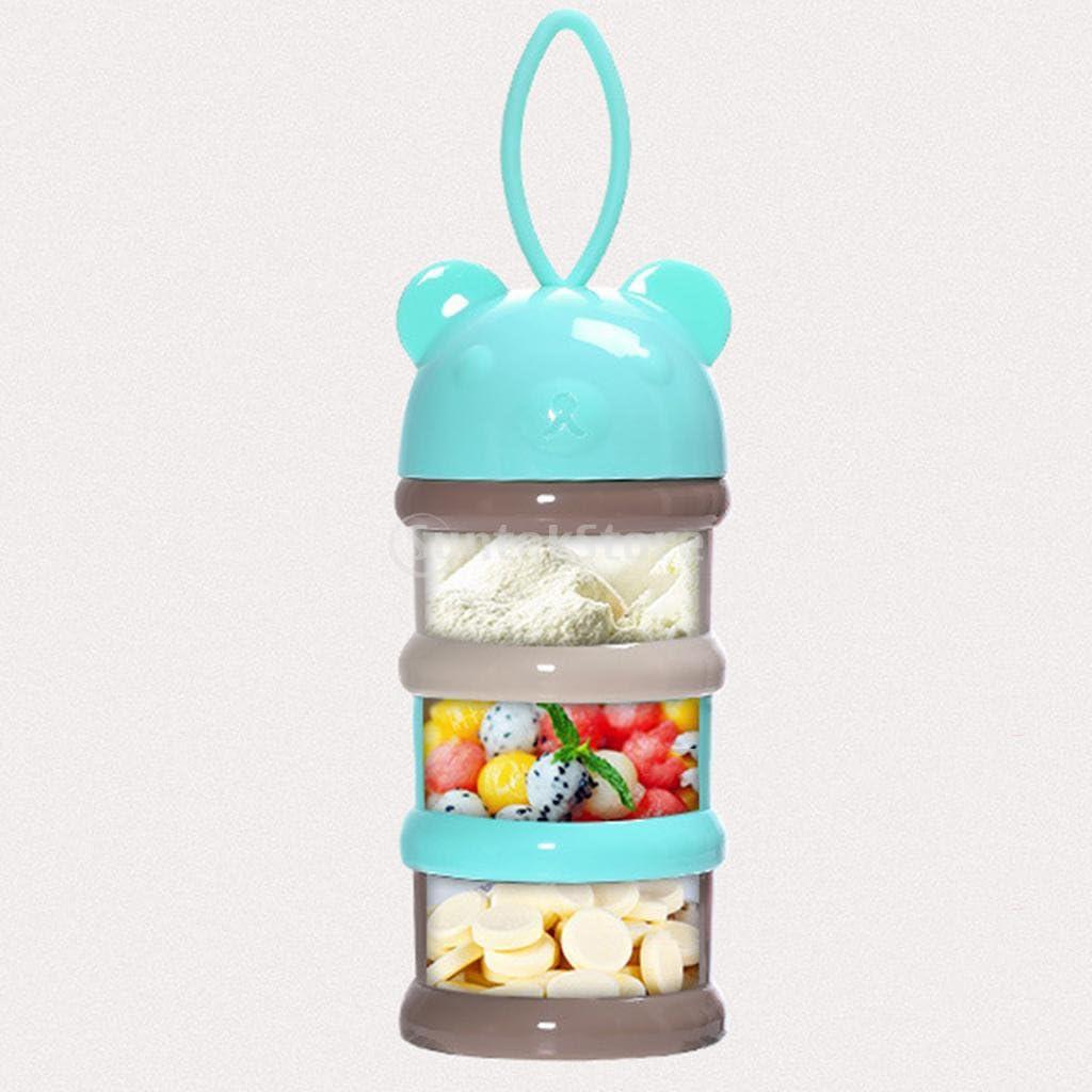 Sharplace 3 F/ächer Milchpulver B/ärngr/ün Portionierer Milchpulverspender Babybrei Aufbewahrung
