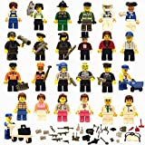 Set of 30 Amazing Unique Figures + 40 Accessories, Lego Compatible, Ages 5+, 70+ pcsv