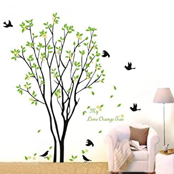Superior 3D Wall Stickers, Ikevan 3D Wall Stickers Green Branch Birds PVC Decal Home  Bedroom Living Great Ideas