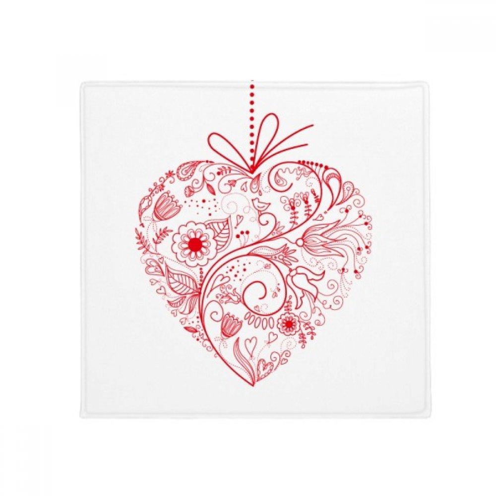 DIYthinker Flowers Vines Valentine's Day Red Anti-Slip Floor Pet Mat Square Home Kitchen Door 80Cm Gift