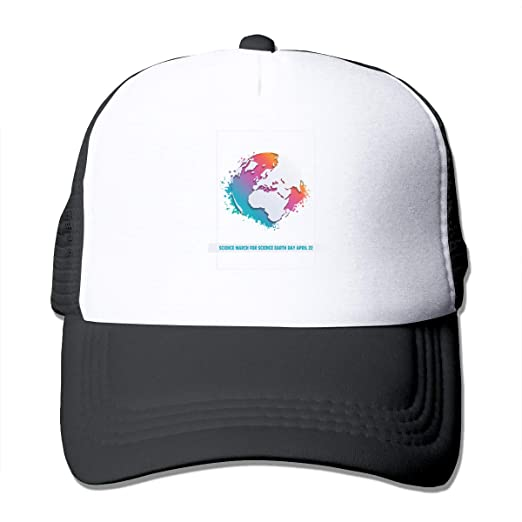 ab37d027d6aa8 Amazon.com  Unisex Science March for Science Earth Day April 22 Trucker Cap  Suitable for Indoor or Outdoor Activities Black  Clothing