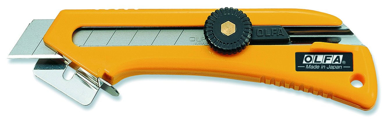 OLFA 9021US CL 18mm Heavy-Duty Utility Knife with 90 degree Cutting Base