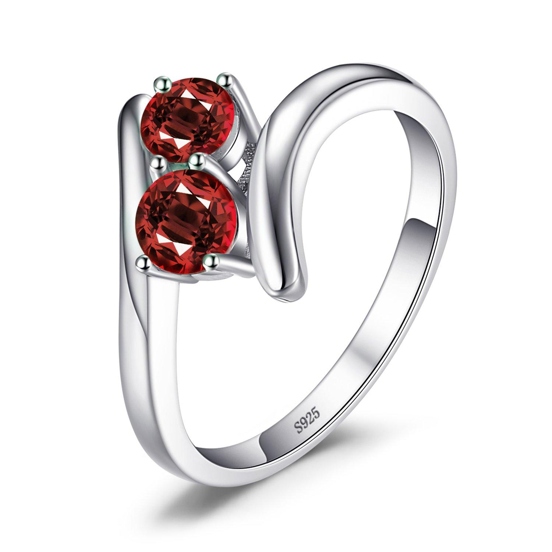 JewelryPalace Magnifique Bague Femme en Argent Sterling 925 en Forme Coeur Fashion Alliance Mariage Fiancaille EU-AR700601