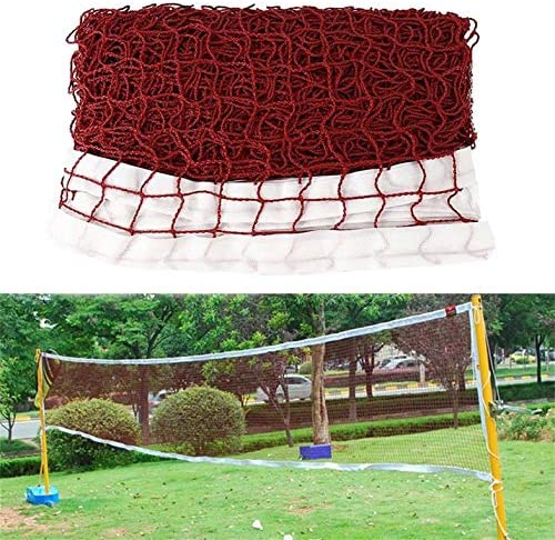 CamKpell 1 Pcs Portable Outdoor Sports Tool Badminton Tennis Volleyball Net For Beach Garden Indoor Outdoor Games Red Red