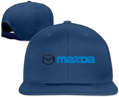 Mazda logotipo gorra con visera plana - Azul - : Amazon.es: Ropa y ...