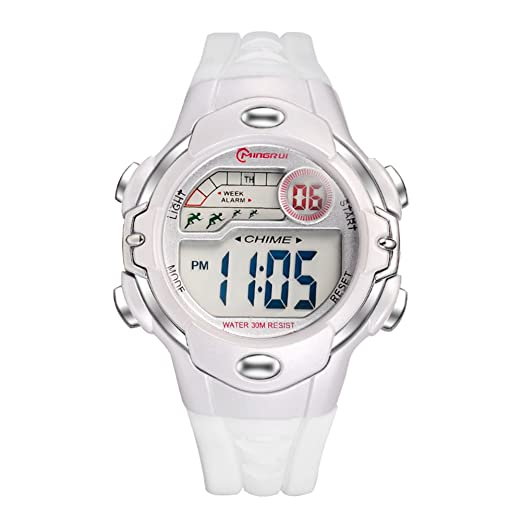 371209a74 Niño Reloj deportivo,Cronómetro digital 30m impermeable Luminoso Calendario  Mes de la semana Multifunción Niña Estudiante Relojes electrónicos-E:  Amazon.es: ...