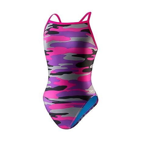 Speedo 8191569 Womens Printed Propel Back Swimsuit, Speedo Purple - 12/38