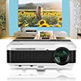 LCD USB HDMI Video Projector for Mobile Phone iPad HD 1080P 3600 LED Luminous  Efficiency Multimedia Home Cinema Theater Projectors for Outdoor Entertainment Game Consoles Ruku DVD Player