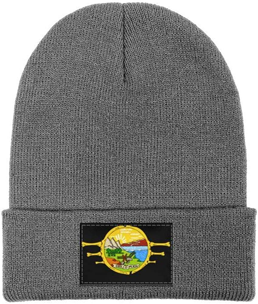 FYFYOK Men Slouchy Beanie Hat Fine Knit Hats Montana State Skull Stretchy Cap