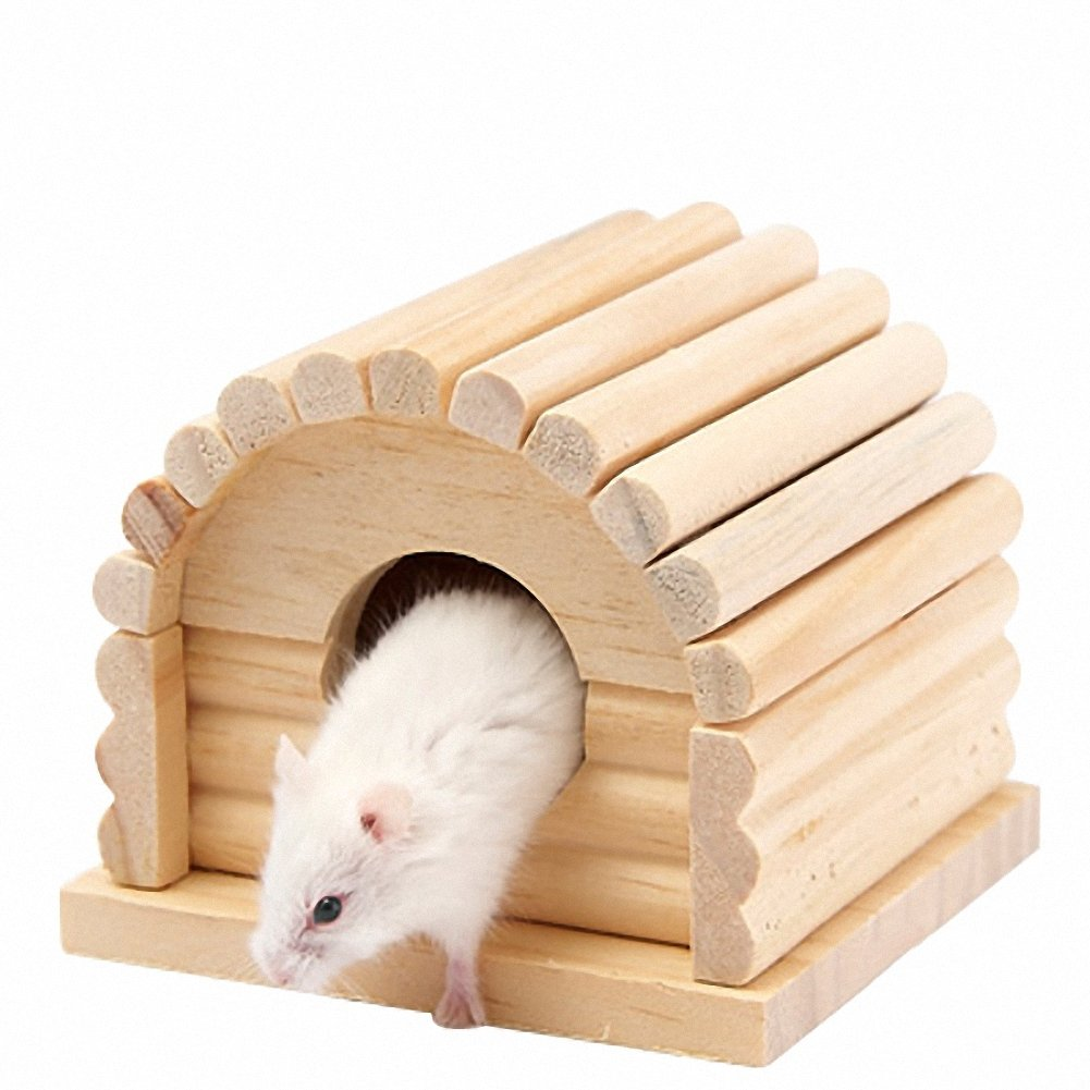 OMEM Hamster Swing Toys, Small Animal Hideout, Pet Mini Hut,Hamster Cabin,Hamster Cages,Pet Wooden Toys,Pet Hamster Toys by OMEM (Image #6)