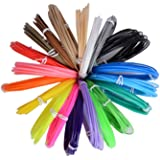 // LEE FUNG 3D Pen Filament Refills Set of 20 Colors 1.75mm PCL 3D Printing Filament 16.4 Feet of Each Dimensional Accuracy 0.05 mm for 3D Printer Pen with Vacuum Package