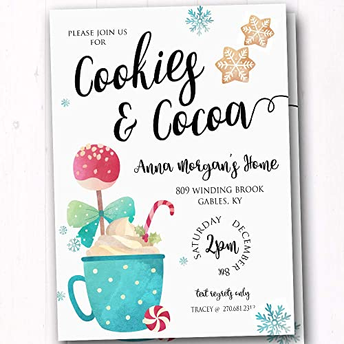 amazon com cookies and cocoa party invites kids christmas party