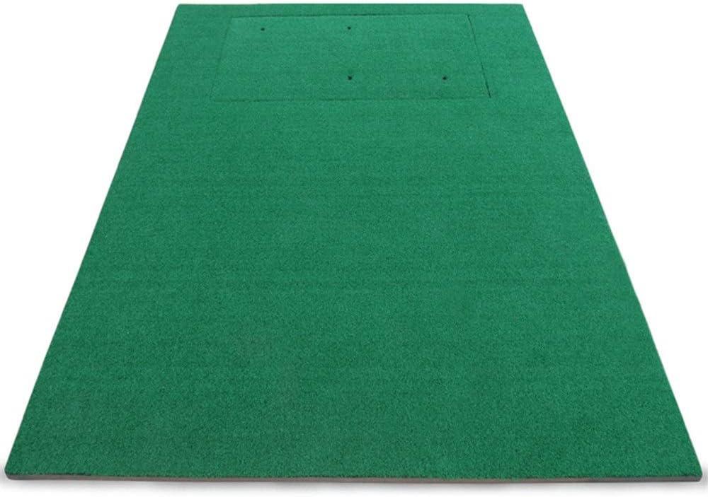ゴルフショット用マット 取り外し可能なポータブルゴルフパッティンググリーンマット人工グリーンミニ練習カーペット用バルコニーオフィスまたは庭 室内ゴルフ練習用マット (色 : 緑, サイズ : 1.5*1.7M) 緑 1.5*1.7M
