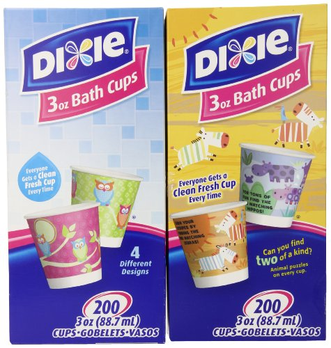 Dixie 3-Ounce Cups, Assorted Patterns, 200-Count Box