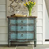 Hooker Furniture 500-50-878 Three Drawer Turquoise Chest, Blue
