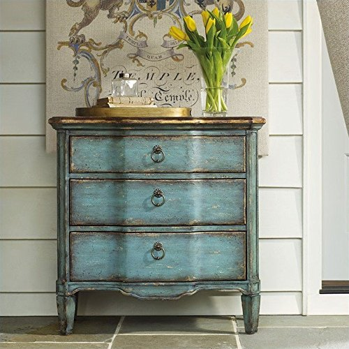 Hooker Furniture 500-50-878 Three Drawer Turquoise Chest, Blue by Hooker Furniture