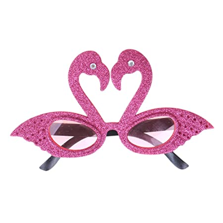 a19241187de Haishell 1 PCS Funny Hawaiian Tropical Sunglasses Flamingos Glasses For  Summer Fancy Dress Party Luau Costume Summer Beach