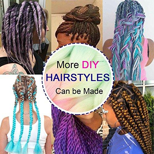 Silike Jumbo Braiding Hair 3 Tone Ombre Afro Braiding Hair