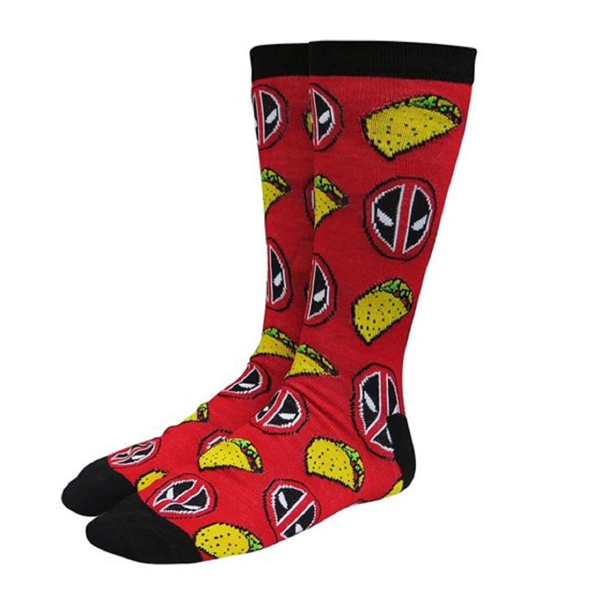 Marvel Comics Licensed Adult Crew Socks (Various Designs) (Spiderman Face)