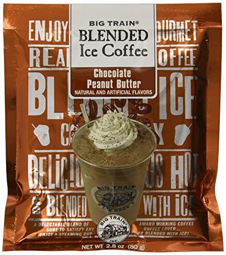 Big Train Blended Ice Coffee, Chocolate Peanut Butter, 2.8-Ounce Bags (Pack of (Big Train Iced Coffee)